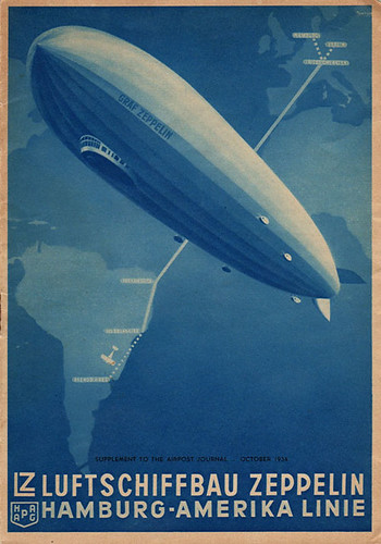 Graf Zeppelin Route Poster