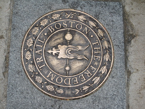 Freedom Trail Seal - these seals were dotted around the city to mark the Freedom Trail