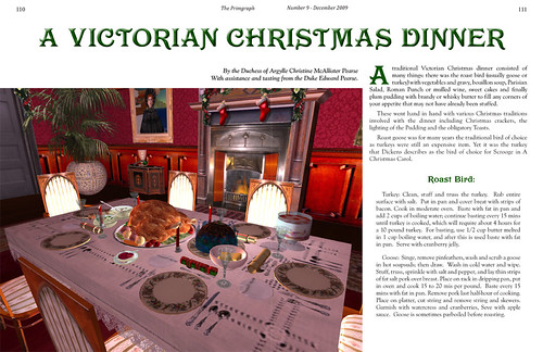 The Primgraph Issue 9: Victorian Christmas Dinner