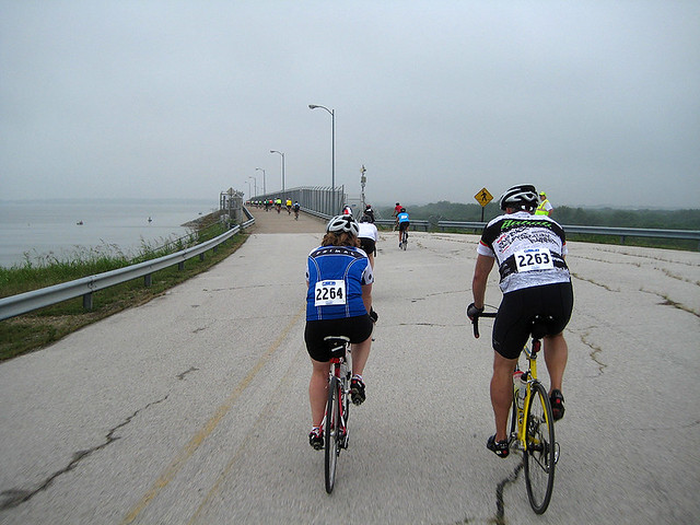 Riding Up To Lake Lavon Dam
