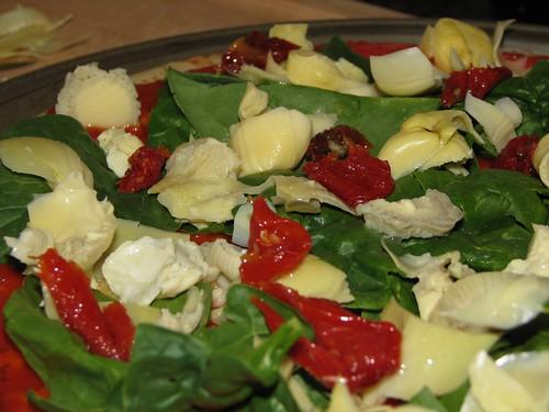 Pizza, pre-cheese