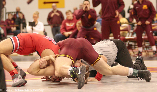 157 #8 Jake Short (Minnesota) fall Anthony DeCarlo (Ohio State) 1:34