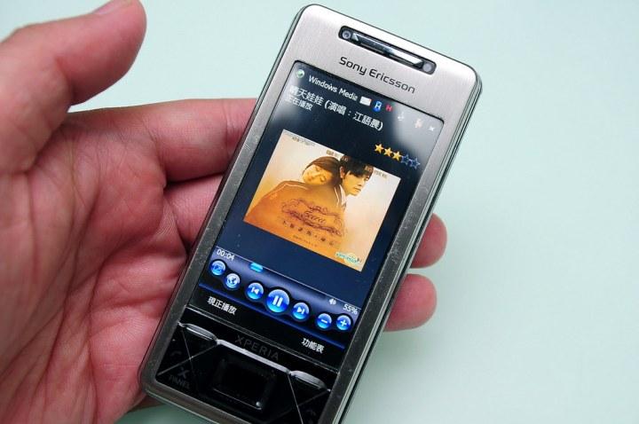 手持裝置顯示MP3多國語言的狀況