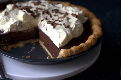 chocolate pudding pie, under attack