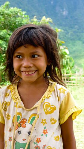 A youth at school near Nong Khiaw