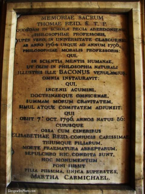 Memoriae Sacrum Thomae Reid