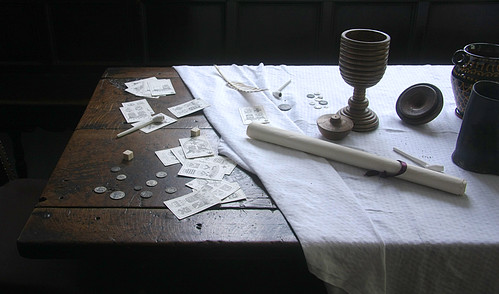 Table at Plas Mawr, Conwy