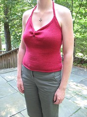 Gracefully gathered halter top