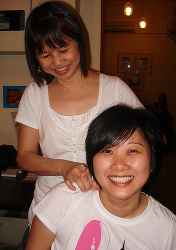 Carina the Massage Therapist & Lingmin