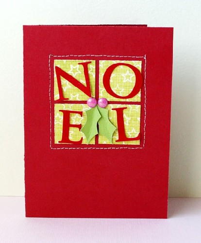 Heres by Noel card inspired by Lauras Love You card.