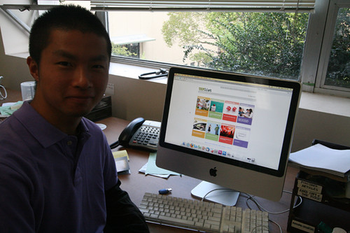Senior Takuya Oka displays his creation USFlist.org, a new classified ad site just for USF.  Photo by Laura Plantholt/Foghorn