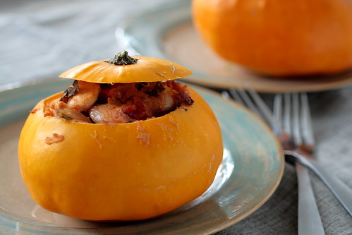 vegetarian Stuffed Patty Pan Squash