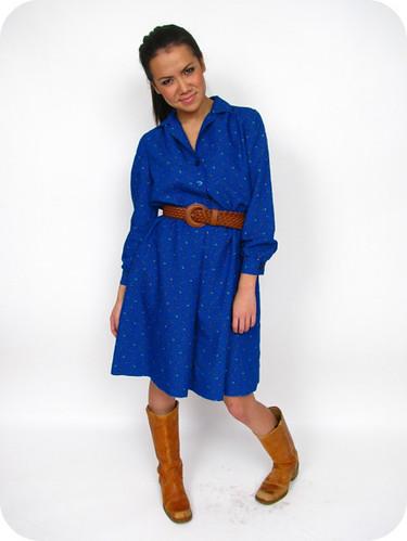 Vtg. 70's FLORAL BOHO DRESS