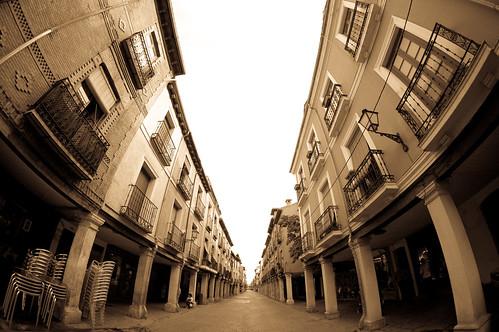 El centro de Alcalá a vista de pez
