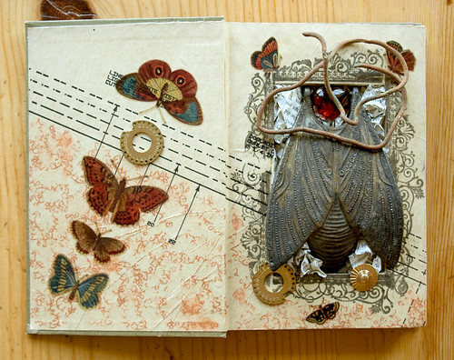 Altered book: The human heart is a fragile thing