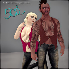 50L Friday - Week 15 - Pig - Vest in 2 Colors All Layers Unisex