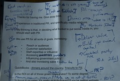 Notes from IIMA Talk on Social Media and ROI - Page One, Top Half