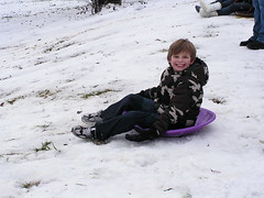 Hooper gets to go snowboarding for the first time in his life, 12/19/09.