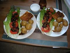dinner Monday 8/3/09