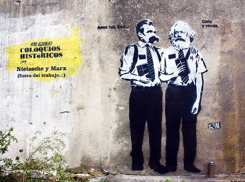 Sr. X presenta: Coloquios Históricos, Hoy: Nietzsche y Marx (fuera del trabajo...)