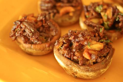 chorizo-stuffed mushrooms