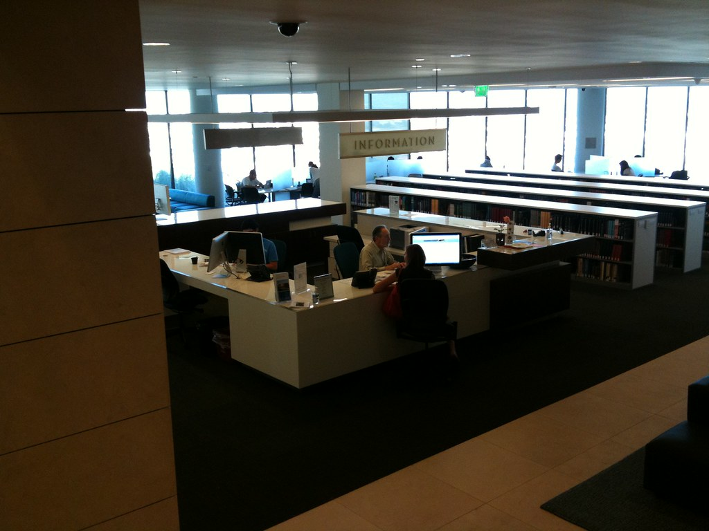 Reference Desk with two screens