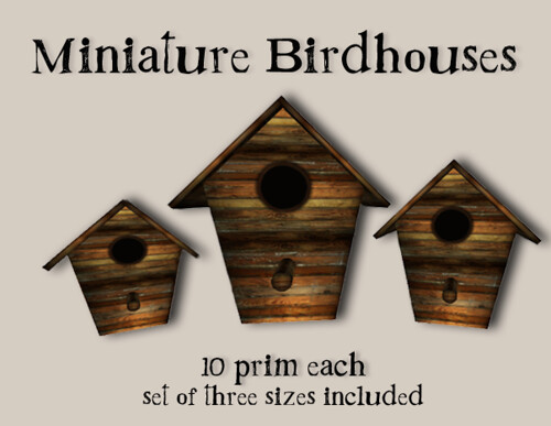 =HooT= Miniature Birdhouses