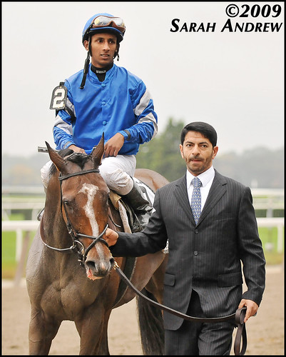 Music Note, Rajiv Maragh, and Saeed bin Suroor after the Beldame