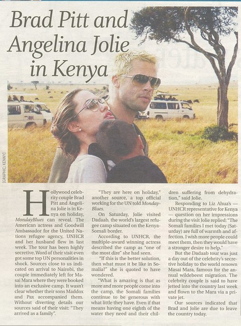 Angelina Jolie and Brad Pitt visit Kenya