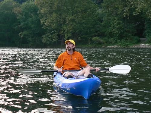Kayaking in Eggleson - Tony on Lit Water