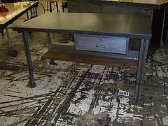 the estate of things chooses vintage steel table