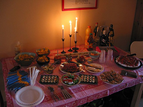 Birthday party 2007 - before the guest arrived...