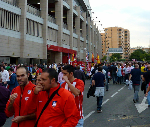 Atleti fans and Vicente Calderon