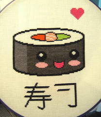 Kawaii Sushi Cross Stitch