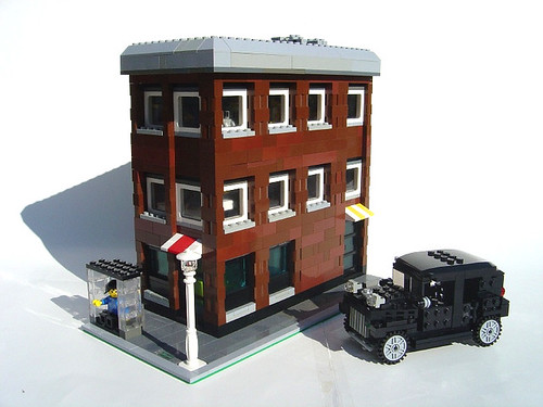 Office Building and 30s Car