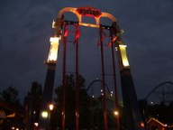 Cedar Point - Skyhwak at Night