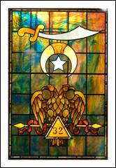 Masonic Symbol, Stained Glass