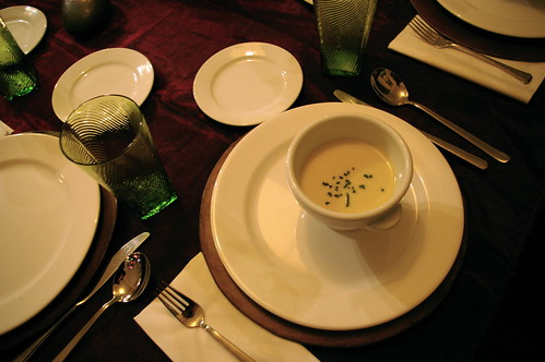 Soup on the table
