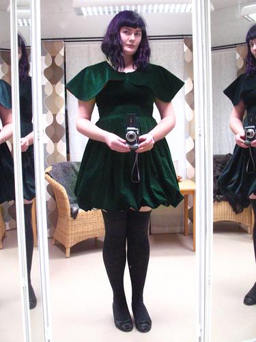 Christmas dress - on