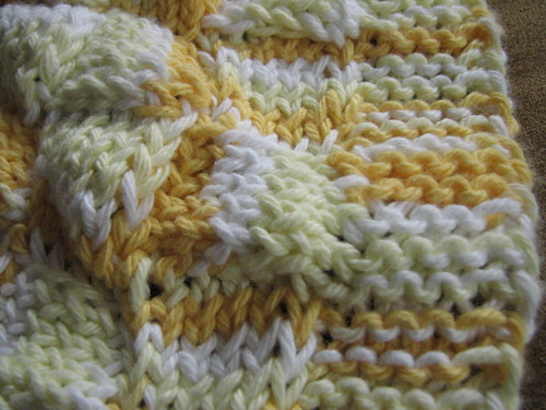 Edging of Entrelac Dishcloth