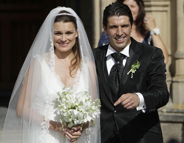 Gianluigi Buffon dan Alena Seredova