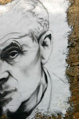 Aldous Huxley painted portrait IMG_7522