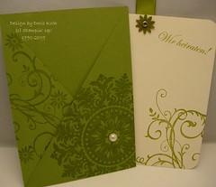Hochzeitskarte Tasche Einschub