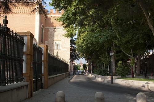Calle Santiago desde el palacio arzobispal en la actualidad