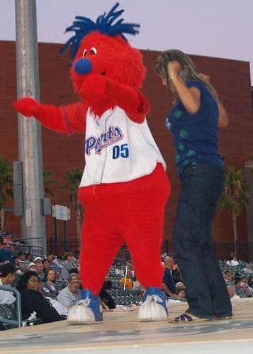 Ports mascot Splash getting down with his bad self