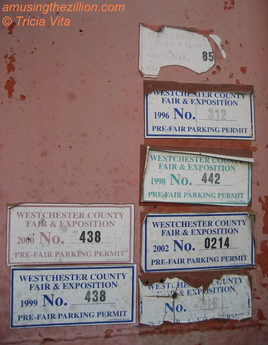 Parking permits from the last years of the Westchester County Fair. Photo © Tricia Vita/me-myself-i via flickr