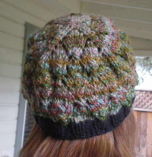 rose goblin hat, rear
