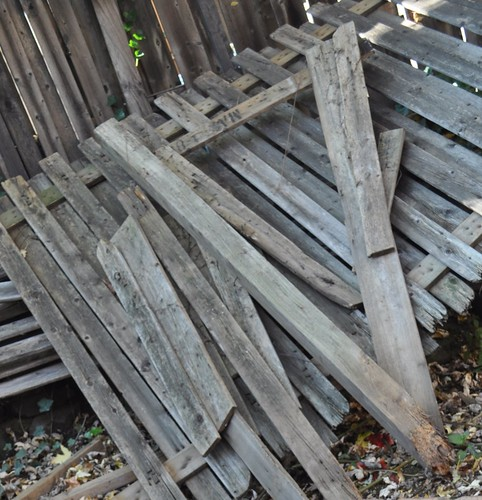 pile of fence