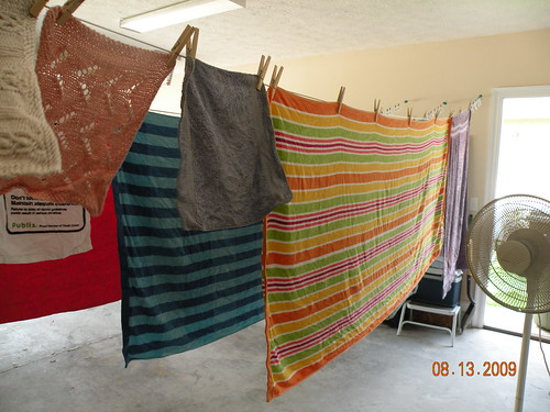 Beach towels - 2nd washing this week - the kids used them at a natural spring and the beach (youth group trips this week)