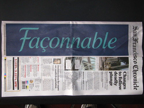 SF Chronicle - Front Page Wraparound Ad